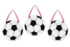 Wall Art Decor Hangings Sweet Jojo Designs for Pink Soccer Baby Kid Bedding Set