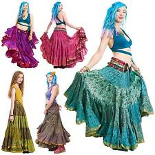 25 Yard Gypsy Belly Dance Skirt, Tribal Fusion Dance Skirt, Hippy Boho Festival