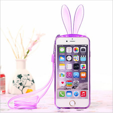 Cute 3D Easter Bunny Rabbit Ear Silicone TPU Soft Cover Case for iPhone 5 6 Plus