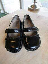 Alegria FEL Black Patent Leather Mary Jane Dressy Shoes Size Women 37