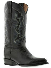 mens black all real lizard armadillo skin leather western cowboy boots rodeo new