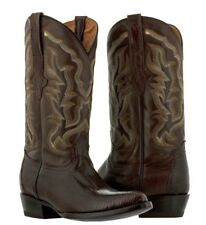 mens brown all real lizard armadillo skin leather western cowboy boots rodeo new