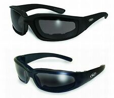 Foam Padded Motorcycle Sunglasses-TRANSITIONAL PHOTOCHROMIC LENS Clear 2 Smoked
