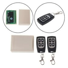 DC 12V 4CH RF Wireless Remote Control Relay Switch Receiver+2 Remote Transmitter