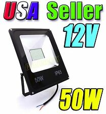 12V - 24V Low Voltage 50W Cool Pure White LED Wash Flood Light Garden Outdoor