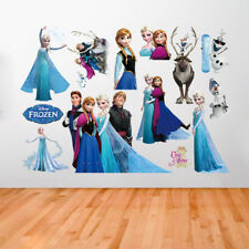 Elsa Frozen Adhesive Posters Frozen 3D Wall Stickers Decals Murals BedRoom Decor