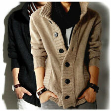 Men's knitted Slim Fit Polo Casual Jumper Cardigan Long Sleeve Clothing Coats ll