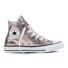 Converse Ladies Chuck Taylor All Star High Sneaker Metallic Canvas Rose Quartz