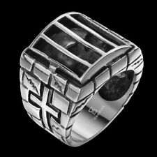 Unique Men Jewelry Punk Gothic Prison Ring 316L Stainless steel Sz 8-11 CR155