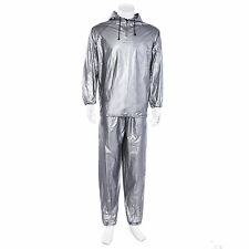 Mens Womens Sauna Wrap Sweat Suit Hoodie Weight Loss Fitness Exercise Gym