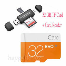 LOT 32/64/128GB C10/6 Micro SD TF Flash Memory Card & SD Adapter & Card reader