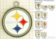 NFL team logo decorative fobs (AFC North), various designs & keychain options