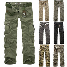 Combat Men's Cotton Cargo ARMY Pants Military Camouflage Camo Trousers New Hot~