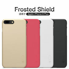 For iPhone 8 /Plus Nillkin Matte Hard Back Cover Slim Thin Case Shield +LCD Film