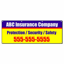 Insurance Company Advertisement Custom Phone Vinyl Banner Sign With Grommets