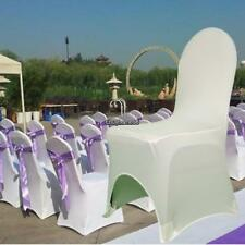 New 100x Spandex Lycra Chair Covers For Wedding Party Event Banquet Decor White