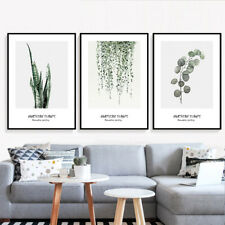 Modern Simple Fresh Plant Painting Art Poster Wall Decor Frame Living Room Mural