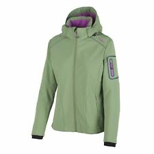 CMP Soft Shell Jacket Functional Jacket ZIPHOODIE Green Windproof Stretch