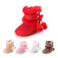 Baby Boy Girl Soft Sole Snow Boots Newborn Infant Toddler Warm Crib Shoes Little