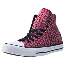 Converse Ct All Star Ii Hex Jaquard Hi Mens Trainers Burgundy New Shoes