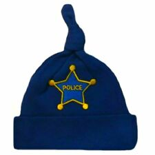 Baby Boy Police Officer Royal Blue Hat - 7 Preemie Newborn Toddler Sizes