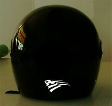 USA FLAG #1 REFLECTIVE MOTORCYCLE HELMET DECAL.2 FOR 1 PRICE