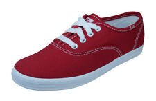 Keds Original Champion CVO Girls Lace Up Trainers / Casual Plimsolls - Red
