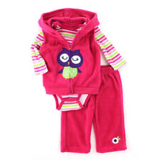 Buster Brown Baby 3 piece Outfit Fleece Vest Top Pants Set 12GSB116