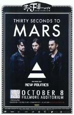 THIRTY SECONDS TO MARS DENVER 2013 CONCERT POSTER FILLMORE