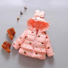 Lovely Toddler Kids Infant Girls Winter Strawberry Princess Jackets Outerwear