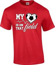 My Heart is On That Field Soccer Ball T-Shirt