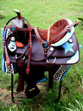 Western Cordura Trail Barrel Pleasure Horse SADDLE Bridle Tack Brown 4948