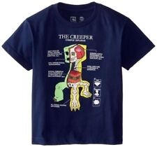 Minecraft Creeper Anatomy Youth's Dark Blue Color Official Licensed T-Shirt