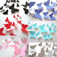 12Pcs 3D Butterfly Wall Sticker Room Removable Decal Decor Art Mural DIY ED 01