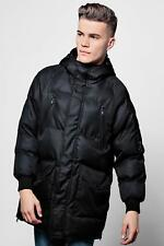 Boohoo Mens Black Quilted Jacket With Technical Zip