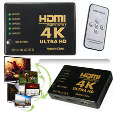 1080p 5 Port HDMI Switch 4K Switcher Splitter + IR Remote Selector For PS3 HDTV