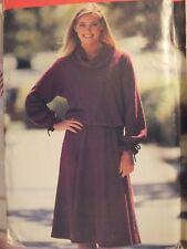 VTG BUTTERICK 6704 MS Bias Roll Collar Top & Flared Skirt PATTERN 10~12~14~16 UC