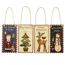 Merry Christmas Wooden Sign Plaque Xmas Home Party Rom Wall Door Hanging Board