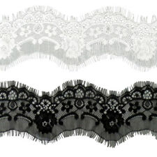3 Yards 7.5cm Eyelash Lace Trim Ribbon for Decorating Floral Designing & Crafts