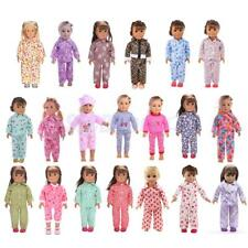 Cute Doll Pajamas Sleepwear Jumpsuit Outfit for 18'' American Girl Doll Clothing