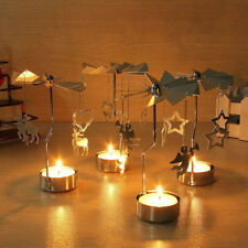 Rotary Spinning Tealight Candle Metal Tea light Holder Carousel Home Decor Gift