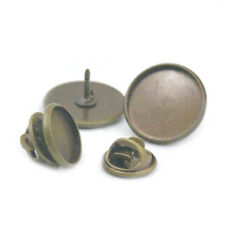 Tie Tack Finding Pin Brass Round Pinch Pad Clutch Back Blank Brooch Leather Sews