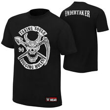 """WWE OFFICIAL UNDERTAKER """"TAKING SOULS"""" 2-SIDED BLACK LIMITED T-SHIRT NWT"""