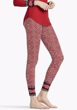 Lucky Brand Thermal Style PJ Pants Red w/ Geometric Print S L