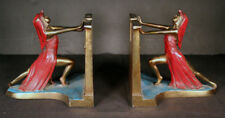VINTAGE ART DECO EGYPTIAN REVIVAL QUEEN OF THE NILE BOOKENDS BY L V ARONSON 1924
