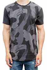 BURTON SNOWBOARD Dwight HENLEY Button T-SHIRT Denison CAMOUFLAGE Camo MEN sz S L