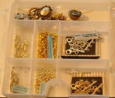 Jewelry and Craft Supplies Miscellaneous Lot with Storage Case