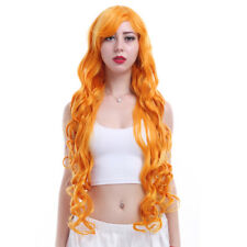 My Little Pony Women's Long Orange Wavy Curly Hair Cosplay Party Full Wigs