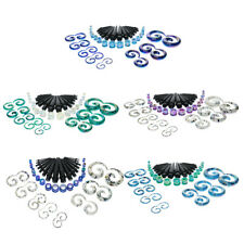 """48Pcs Acrylic Ear Stretching Kit with Spiral Tapers Plug Set Gauges 12G-1/2"""""""