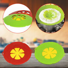 Silicone Cooking Pot Cover Saucepan Spill Lid Anti Overflow Splash Kitchen Tool